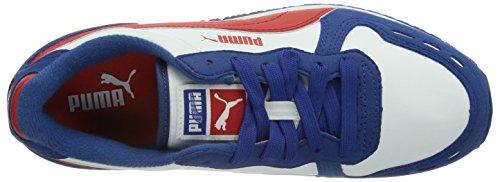 Puma Cabana Racer SL Jr Unisex-Kinder Sneakers Blau (limoges-white-high risk red 27)
