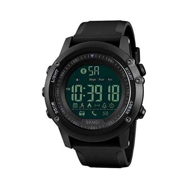 JUE Reloj para Hombres/Mujeres, Reloj Deportivo Inteligente Reloj de Alarma