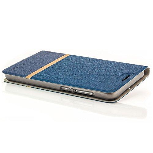 zanasta Designs Tasche HTC One A9 Hülle Flip Case Schutzhülle Handytasche mit Kartenfach Blau