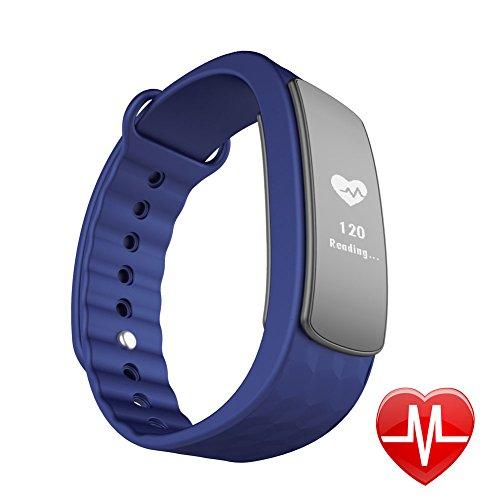 Fitness Tracker, Lintelek Activity tracker Cardiofrequenzimetro Braccialetto Fitness Intelligente, Pedometro, Monitora Sonno e Calorie, Bracciale IP67 Impermeabile, Nofiticazione di Chiamata/SMS/SNS, Compatibile con Smartphone iPhone e Android