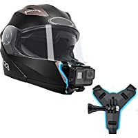 HIFFIN® Helmet Chin Strap Mount Compatible with Gopro Hero 9/8/7/6,SJCAM, Yi, DJI Osmo Action & Other Action Cameras