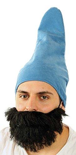 Marco Porta Zwergenmütze Erwachsene Gnom Wichtel Zwergenkostüm Zubehör Kopfbedeckung (Hellblau)