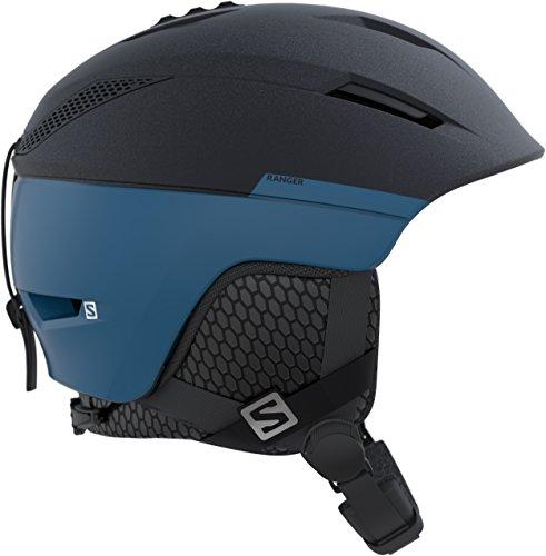 Salomon, casco da sci e snowboard da uomo, interno in mousse eps 4d, taglia s, circonferenza 53-56 cm, ranger², blu, l39912900