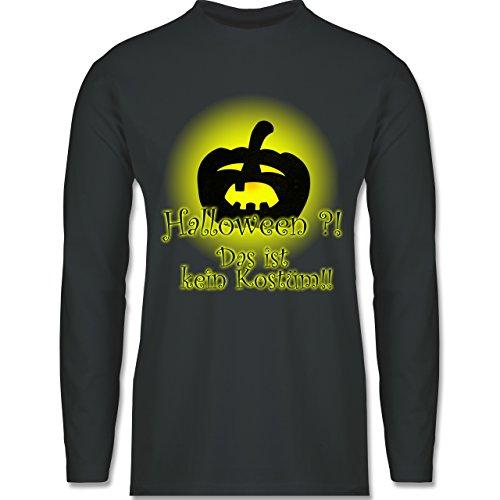 Halloween - Kein Halloweenkostüm - Longsleeve / langärmeliges T-Shirt für Herren Anthrazit