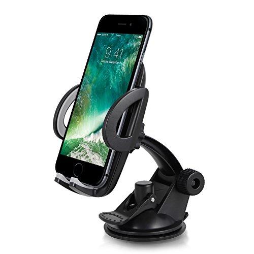 Handyhalterung auto – TOPLUS kfz handyhalterung-Ständer mit Gel-Saugnapf und Kugelgelenk handyhalter fürs auto Universal Handy Autohalterung für iPhone, Samsung, HTC, Nokia,Blackberry,Huawei,LG,GPS und mehr