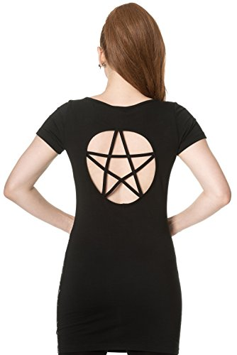 Banned Kleid 9 LIVES BODYCON DRESS 5210 Schwarz