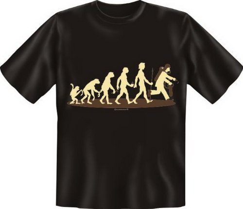 Fun T-Shirt: Homo Stupidus: Feuerwehrmänner M,Schwarz (Feuerwehrmann-erwachsenen T-shirt)