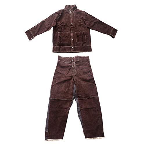 FLAMEER Schweißer Schweißen Hoze mit Hemd Schutzkleidung Bekleidung Schweißerschutz L