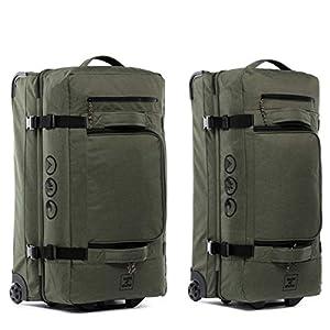 XXL Reisetasche mit 2 Rollen Kane Rollkoffer 80 cm Koffer Sporttasche Reise-Trolley 140L, grün-Olive