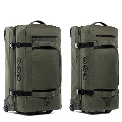 2er Reisetasche XL + XXL Rollkoffer Kane Koffer Sporttasche Reise-Trolley 2 Rollen, grün-Olive