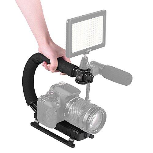 Andoer 3 Schuh Halterungen U / C-Förmige Griff Handheld Halterung Stabilisator Halter Grip für iPhone 7 Plus-6s 6 Plus für Canon Nikon Sony DSLR-Kamera Camcorder Kamera-halterung Für Nikon