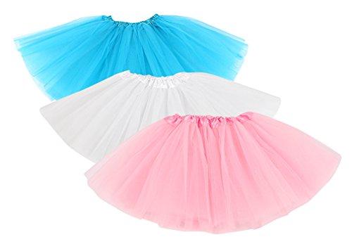 Hikong 3pcs Tutu Gonne Balletto di Tulle 3 Strati Sottoveste Bambini Ragazza Principessa Vestito da Ballo Petticoat Costume Danza