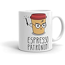 Espresso Patronum Tasse aus Keramik, weiß, 11Oz
