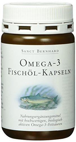 Sanct Bernhard Omega 3 Fettsäuren Fischöl-120 Kapseln, 1er Pack (1 x 80 g)