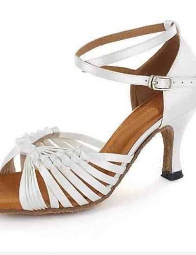 ShangYi Chaussures de danse(Noir / Blanc) -Personnalisables-Talon Personnalisé-Similicuir-Latine