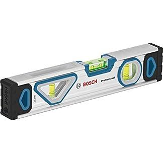 Bosch Professional – Nivel de burbuja magnético (longitud 25 cm, burbuja de doble visión)