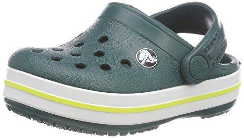 Evergreen Grün (crocs Crocband Clog Kids, Unisex-Kinder Clogs, Grün (Evergreen), 22/23)