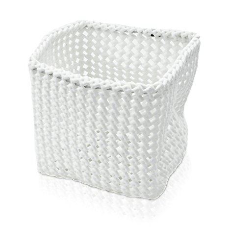 Möve Tube Quadratischer Korb 15 x 15 x15 cm aus formbarem Kunststoff, off white