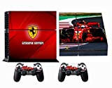 Formula 1 F1 Ferrari Scuderia PS4 Skin Sticker Vinyl Aufkleber Schutzfolie zum Konsole & 2 Controller NEU