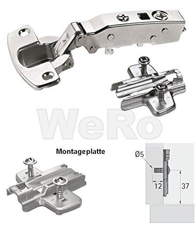Hettich Sensys 8645i TH 52, Möbel - Scharnier Topfband SOFT-Closing 110° Ausführung: Eckanschlag