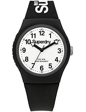 Superdry Armbanduhr, Unisex, Schwarz und Weiß-SYG164BW