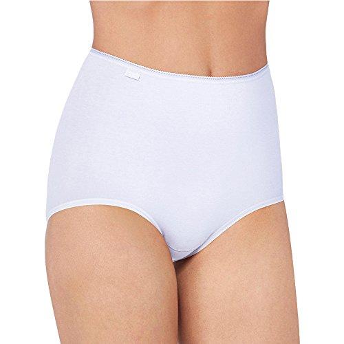 6er Pack Sloggi Damen Maxi Slip | Taillenslip - Serie 24/7 Cotton 2+1 - Farbe Weiß - Größe 46