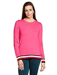 Tommy Hilfiger Womens Cotton Sports Knitwear (A7AWS106_Magenta_M)