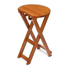 Buzhidao Chaise Pliante Chaise Longue en Bois Massif Chaise Pliante Simple Et Créatif Tabouret Portable Tabouret De…