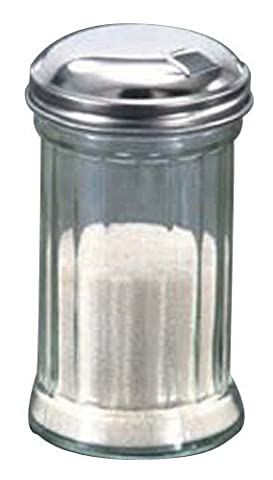 American Metalcraft GLA316 Glass Sugar Shaker with Lid, 12-Ounce,
