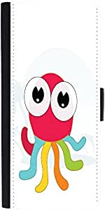 Snoogg Cute Little Octopus Graphic Snap On Hard Back Leather + Pc Flip Cover ...