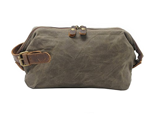 Vetelli Mens Leather Toilet Toiletry Bag (Dopp Kit, Wash Bag) with Travel  Bottles One Size Brown V107 8b3431e766