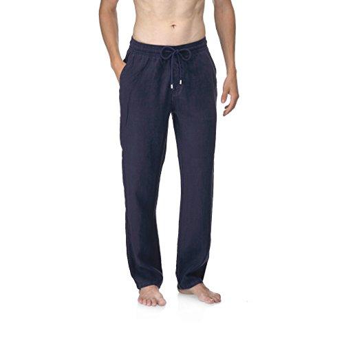 VILEBREQUIN Pantalón de Lino - Hombre - S - Azul Marino