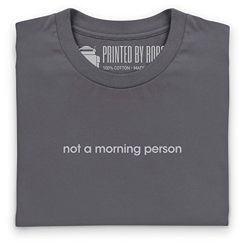 Not A Morning Person T-Shirt, Herren Anthrazit