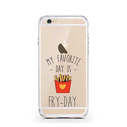 iPhone 6 6S Hülle von licaso® für das Apple iPhone 6 aus TPU Silikon Happy Dots Punkte Polka Dot Glücklich Muster ultra-dünn schützt Dein iPhone 6S & ist stylisch Schutzhülle Bumper in einem (iPhone 6 FRY-DAY