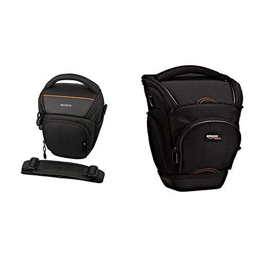 Sony LCS-AMB Kameratasche für Sony Alpha-Kamera & AmazonBasics SLR-Schultertasche (schwarz)