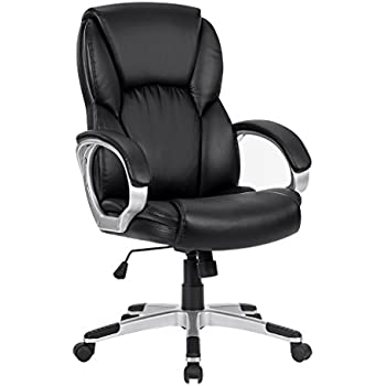 ergonomic executive mid back mesh office chair with adjustable height. langria mid-back faux leather computer executive office chair, modern and ergonomic design, mid back mesh chair with adjustable height