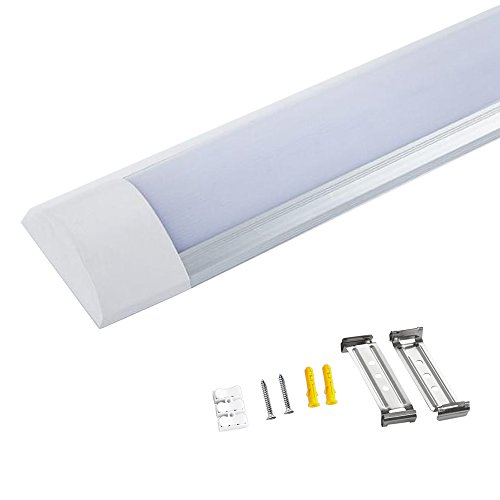 5ft 45W LED Batten Light Linear Deckenleuchte TUBE Light Oberfläche montiert Armatur für Küche, Bad, Garage Beleuchtung kühles Weiß 6000K