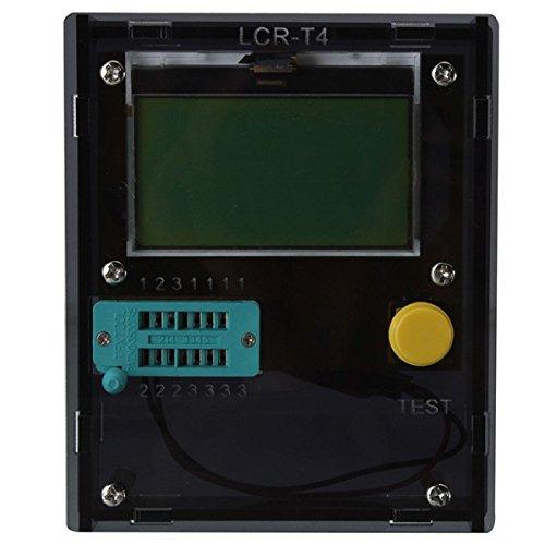 Bluelover Lcr-T4 Transistor Tester Diode Triode Lcd Esr Meter Induktivität Mit Gehäuse-Schwarz