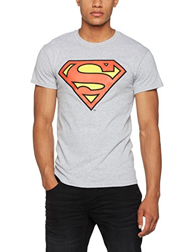 DC Universe Herren T-Shirt DC Originals Official Superman Shield, Grau (Heather Grau), X-Large (Dc-shirt Grau)