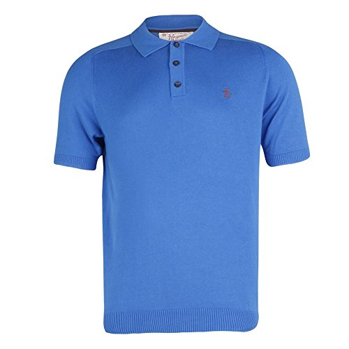 Original Penguin by Munsingwear Fine Knit Polo Shirt Snorkel Blue