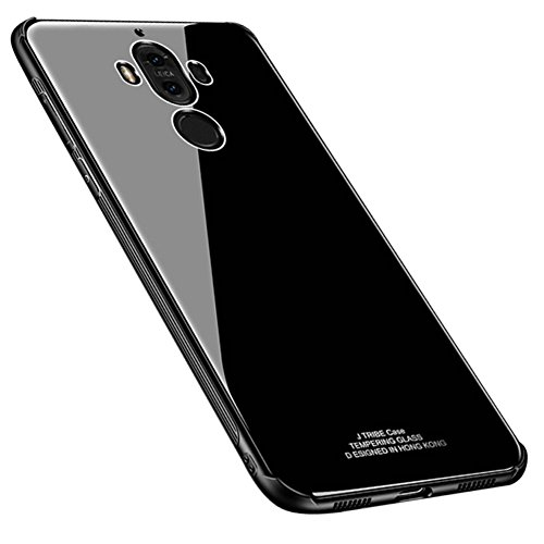 Kepuch Quartz Huawei Mate 9 Hülle - TPU + Gehärtetes Glas Rückseite für Huawei Mate 9 - Schwarz