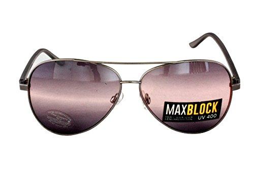 Foster Grant FG19 Unisex Flieger Stil Sonnenbrille Silber Rahmen & grau Kunststoff Arme schwarz grau Steigung Linsen CAT 2 (Foster Sonnenbrille Grant Aviator)