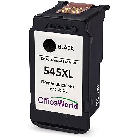 OfficeWorld PG-545XL Negro Cartucho de tinta para Canon PIXMA iP2850 MG2400 MG2450 MG2455 MG2500 MG2550 MG2900 MG2920 MG2950 MX495