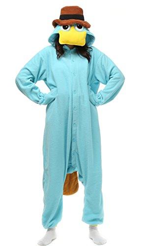 Auspicious beginning Unisex-adult Duckbill Cosplay-Kostüm-Karikatur-Schlafanzüge Pyjama Freizeitkleidung Lounge (Duckbills Kostüme)