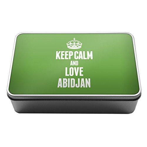 Grün Keep Calm und Love Abidjan Metall Aufbewahrungsdose Box 2310