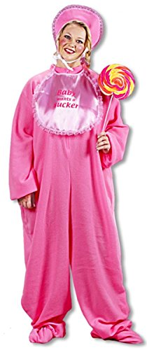 Horror-Shop Riesenbaby Kostüm Pink Plus Size