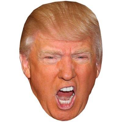 Donald Trump (Geschrei) Prominente Maske, Karton Gesicht und Kostüm Maske
