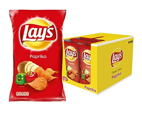 Lay's Paprika - Knusprig gewürzte Kartoffelchips für eine gelungene Party - 9 x 175g