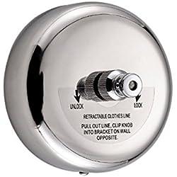 304 en acier inoxydable Rondes rétractables Sec séchage Sèche linge de linge avec 2,8 m d'acier Cord Line pour salle de bain