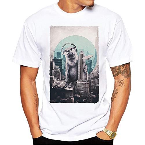 468c12514553 Summer Men Retro T Shirts Vintage DJ Sloth Design T-Shirt Short Sleeve Tops  Cool